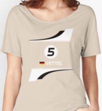 F1 2016 - #5 Vettel Women's Relaxed Fit T-Shirt