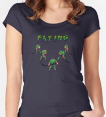 Mighty Ducks Flying ''V'' Women's Fitted Scoop T-Shirt