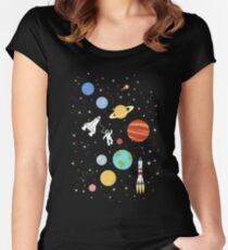 In space Women's Fitted Scoop T-Shirt