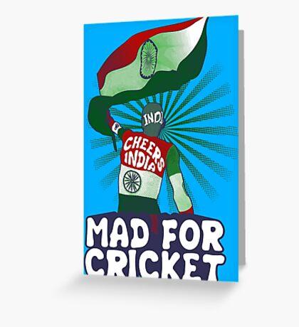 Team India Fan Greeting Card