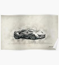 W Motors Lykan Hypersport Poster