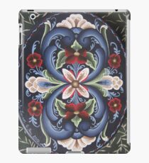 Scandinavian Viking Rose Folk Art Flower Power Red White Blue Kirsten iPad Case/Skin