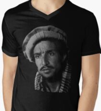 Massoud Tee T-Shirt mit V-Ausschnitt