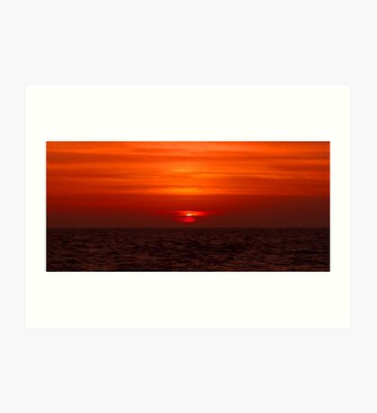 A Florida Sunset Art Print