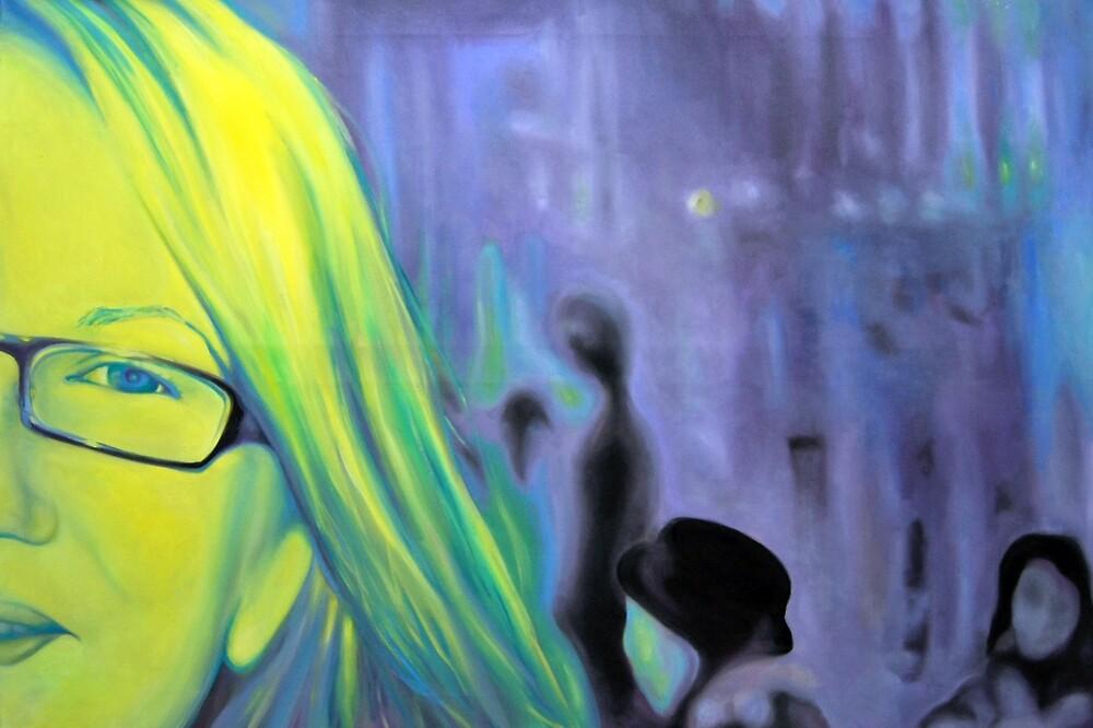 Portrait in glasses, 2011, 120-80cm, oil on canvas by oanaunciuleanu