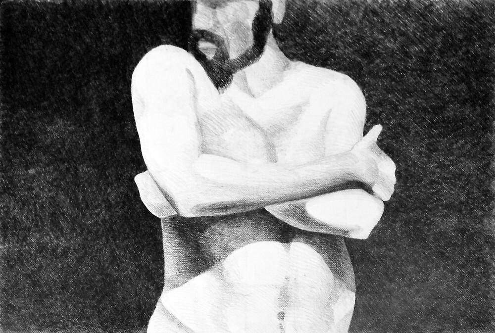 In the spotlight, 2011, 100-70cm, graphite crayon by oanaunciuleanu