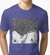 Modern Artistic Abstract Snow Scene Tri-blend T-Shirt