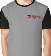 Half-Heart Video Game Hearts Graphic T-Shirt