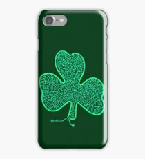 A-MAZe-thING Shamrock (read rules) iPhone Case/Skin