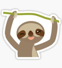 Winking sloth Sticker