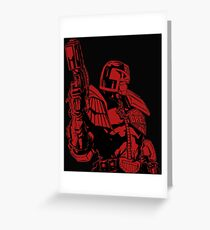 Red Dredd Greeting Card
