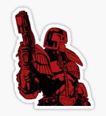 Red Dredd Sticker