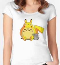 Totorotchu and Pikaro Women's Fitted Scoop T-Shirt