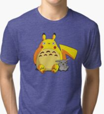 Totorotchu and Pikaro Tri-blend T-Shirt