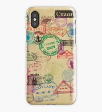 Vintage Passport Stamps iPhone Case/Skin