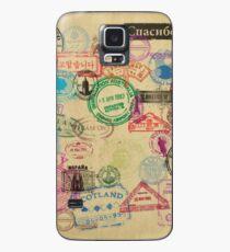Vintage Passport Stamps Case/Skin for Samsung Galaxy