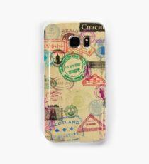 Vintage Passport Stamps Samsung Galaxy Case/Skin