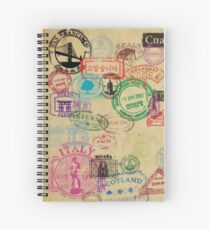 Vintage Passport Stamps Spiral Notebook
