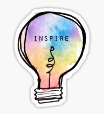 Inspirer l'ampoule Sticker