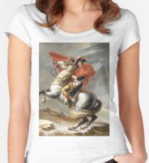 Jacques-Louis David - Bonaparte . The Emperor Napoleon , Napoleon, Fashion Portrait Women's Fitted Scoop T-Shirt