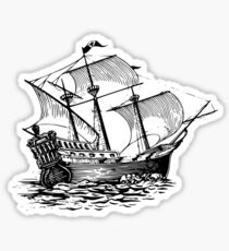 Galleon Ship Sticker