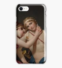 Jacques-Louis David - The Farewell of Telemachus and Eucharis 1818 . Love , Kiss , Romance iPhone Case/Skin