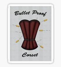 Bulletproof Corset Sticker