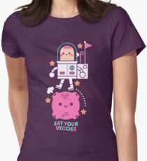 Eat your veggies Womens Fitted T-Shirt