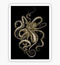Octopsychedelia Sepia Sticker