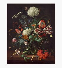 Jan Davidsz de Heem - Vase of Flowers , Flowers , Bouquet of Flowers , Love , Kiss  Photographic Print