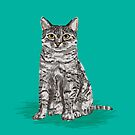 Sitting egyptian mau cat breed cute cat lady gifts pet portraits must haves for cat owner by PetFriendly
