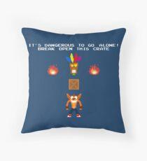 Zelda Bandicoot Throw Pillow