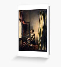Johannes Vermeer - Girl Reading a Letter by an Open Window  1659 Greeting Card
