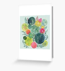 Succulent Circles Greeting Card