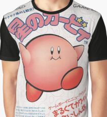 Kirby Japanese Video Game Design Graphic T-Shirt