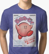 Kirby Japanese Video Game Design Tri-blend T-Shirt