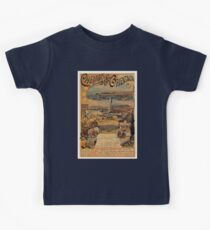 1890s Oriental railways to Constantinople travel  Kids Tee