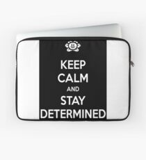Keep calm and stay determined undertale shirt Laptop Sleeve