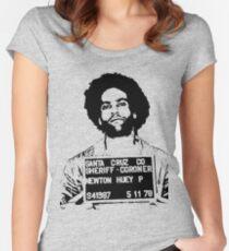 HUEY P. NEWTON-MUGSHOT Women's Fitted Scoop T-Shirt