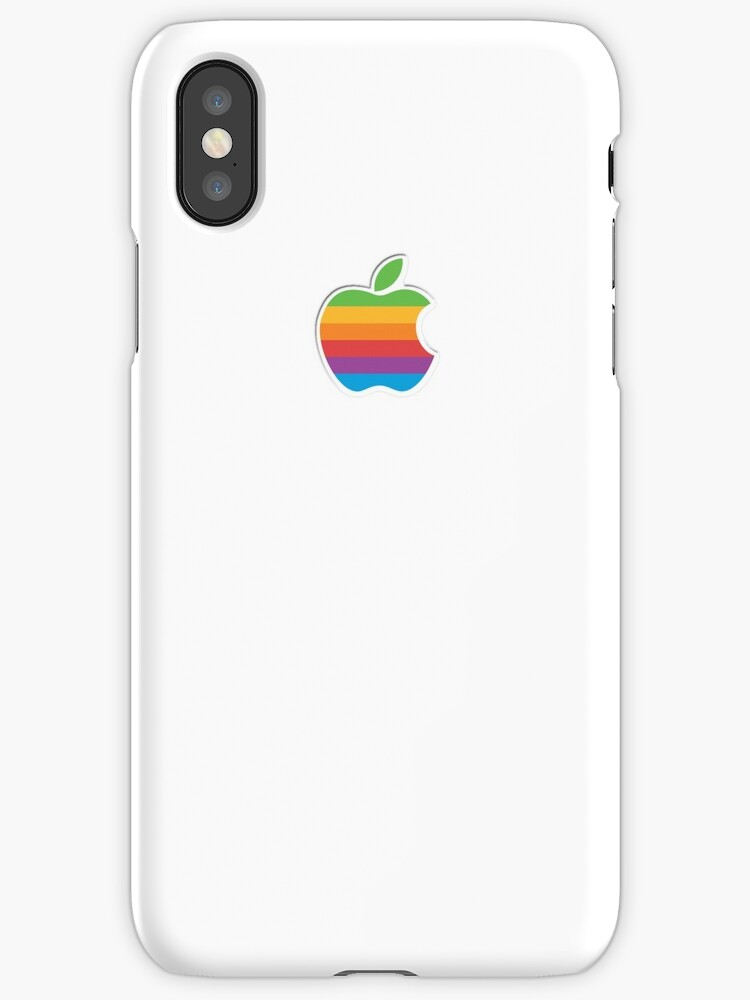 Retro Apple Logo Phone and Laptop Cases by Sean McNally