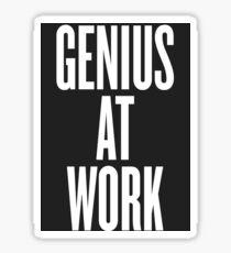Genius at work grey Sticker
