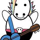 Unicorn Kawaii Punk Bassist by ValeriesGallery