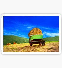Hay Wagon Sticker