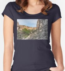 House on a Mountain Women's Fitted Scoop T-Shirt