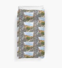 House on a Mountain Duvet Cover