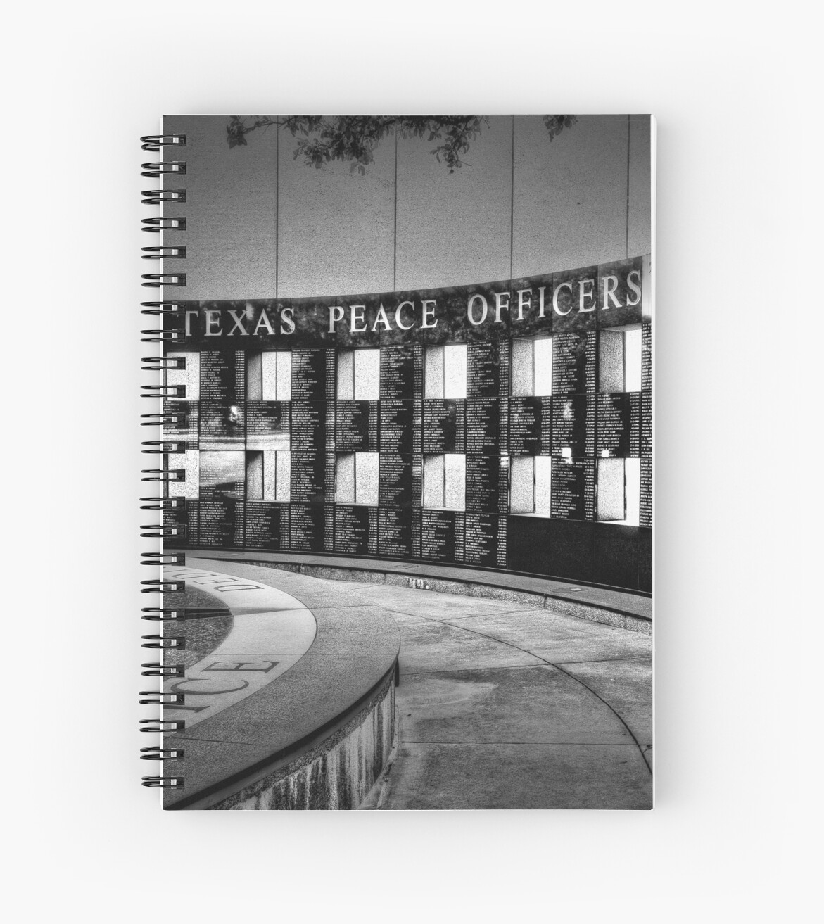"""Texas Peace Officer: """"Texas Peace Officers Memorial"""" Spiral Notebooks By Victor"""