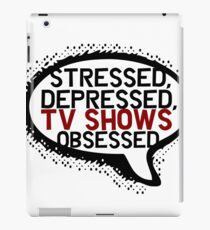 Tv shows obsessed iPad Case/Skin