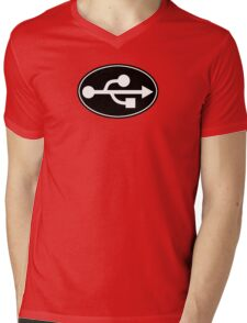 USB - EURO STICKER Mens V-Neck T-Shirt