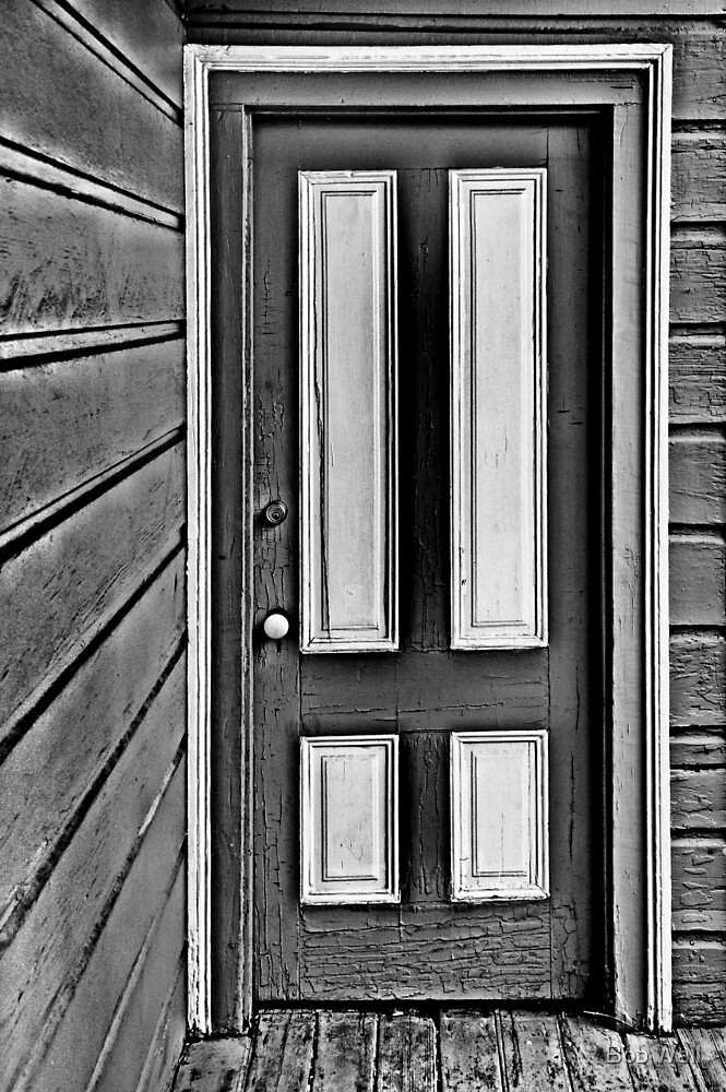 The Old Gray and White Door by Bob Wall