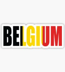 Belgien Sticker